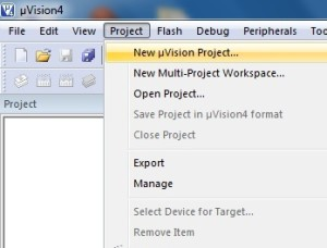 create-new-µVision-project