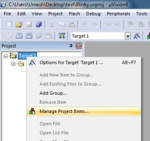 manage-file-in-uVision4-project