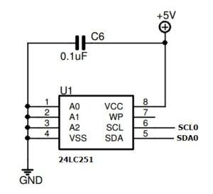 24LC512 EEPROM Connection to LPC2148