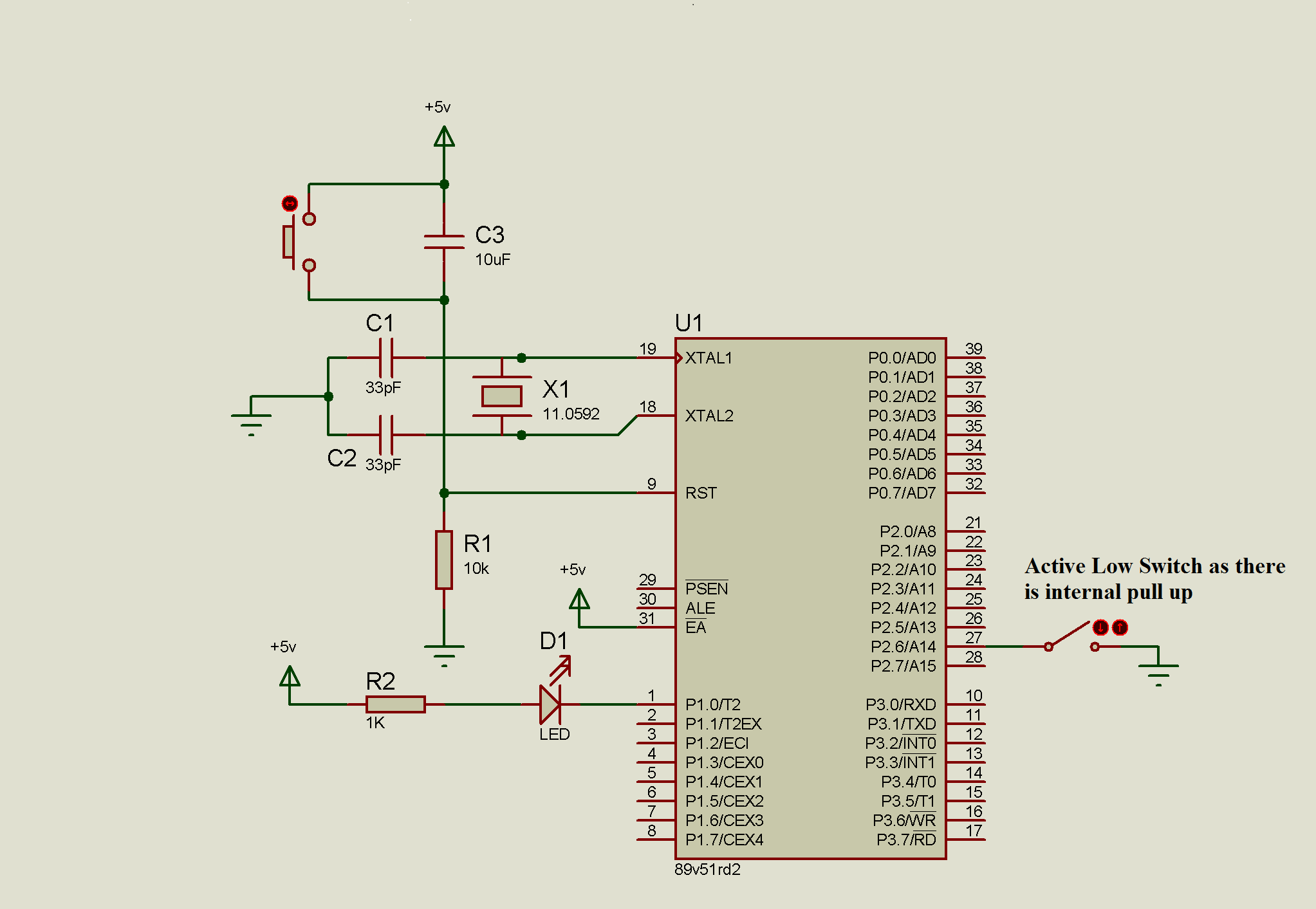 Switch with 8051 Microcontroller