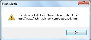 Flash Magic Tool Failed to Autobaud