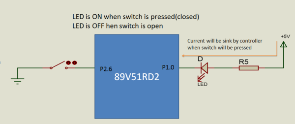 Wiring Diagram Switch with 8051