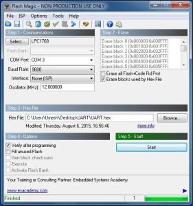flash magic to program LPC1768