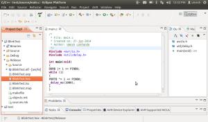 generate hexfile under eclipse linux