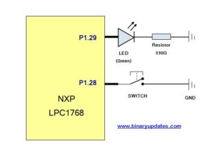 Add Button Switch to LPC1768 Microcontroller